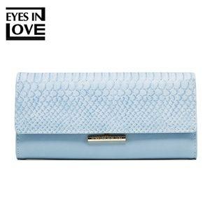 Handbags - lady purse with crocodile color blue